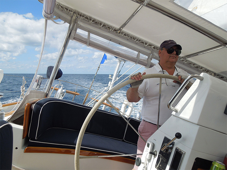 Machbuster Owner Gene Enjoying Perfect Conditions South of the Gulf Stream
