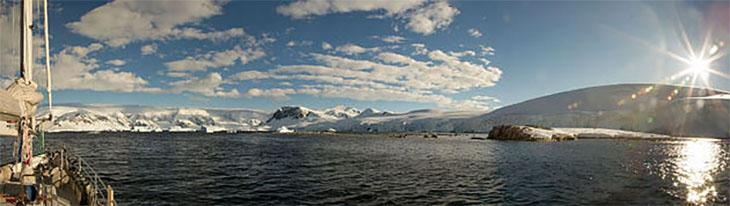 Novara at Portal Point, Antarctica