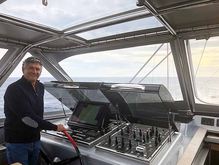 Steve Berson at the helm of SEAHAWK